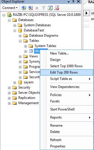 insert data into table