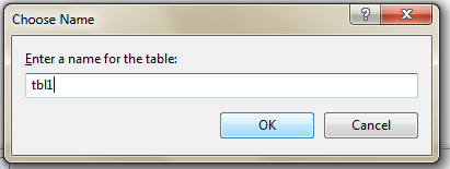 provide table name